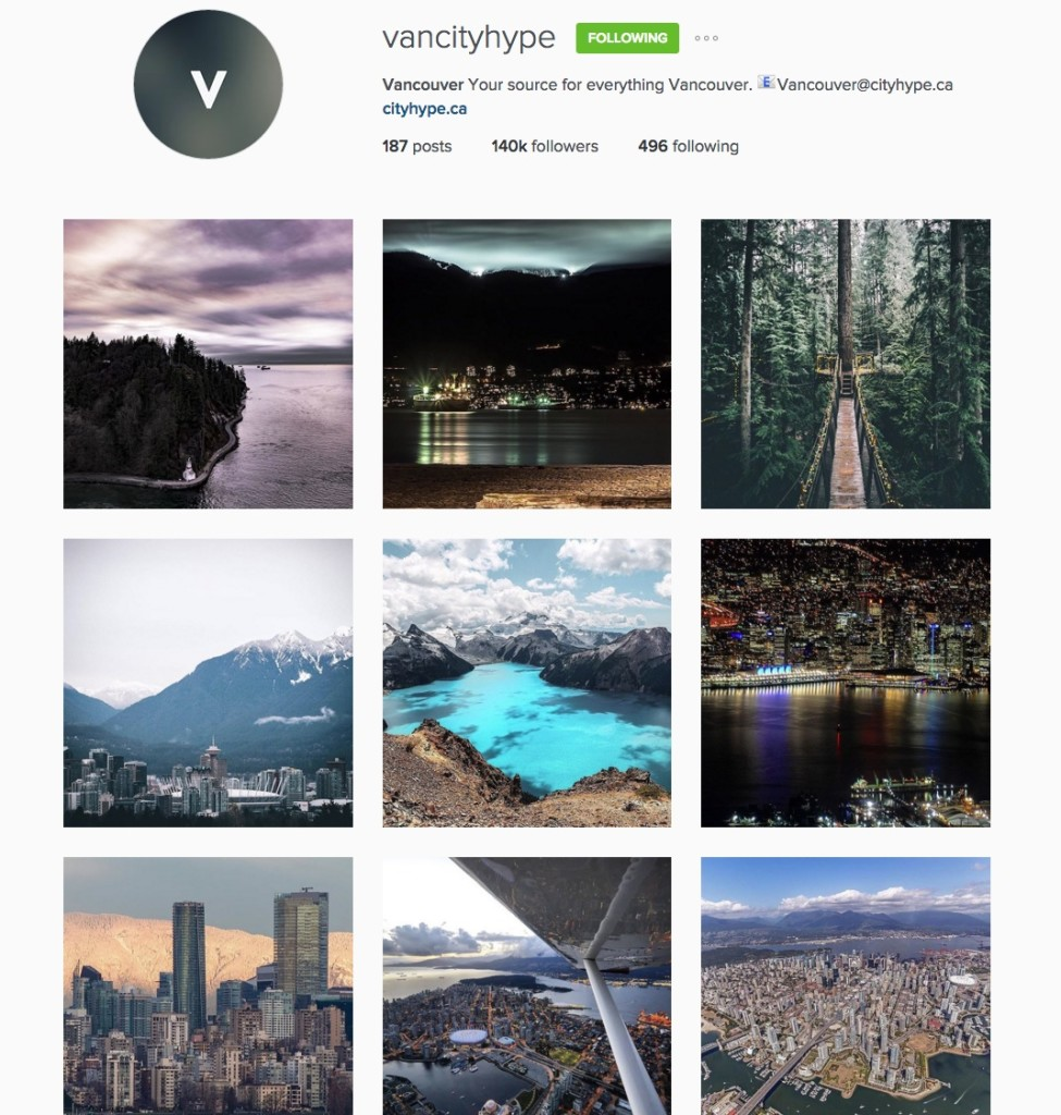 vancouver instagram accounts